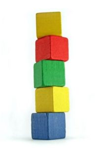 Stack of Colored Blocks