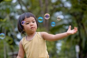 Toddler Play with Bubbles