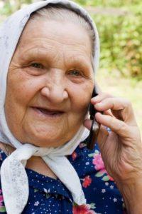 Elderly Woman on Cell Phone