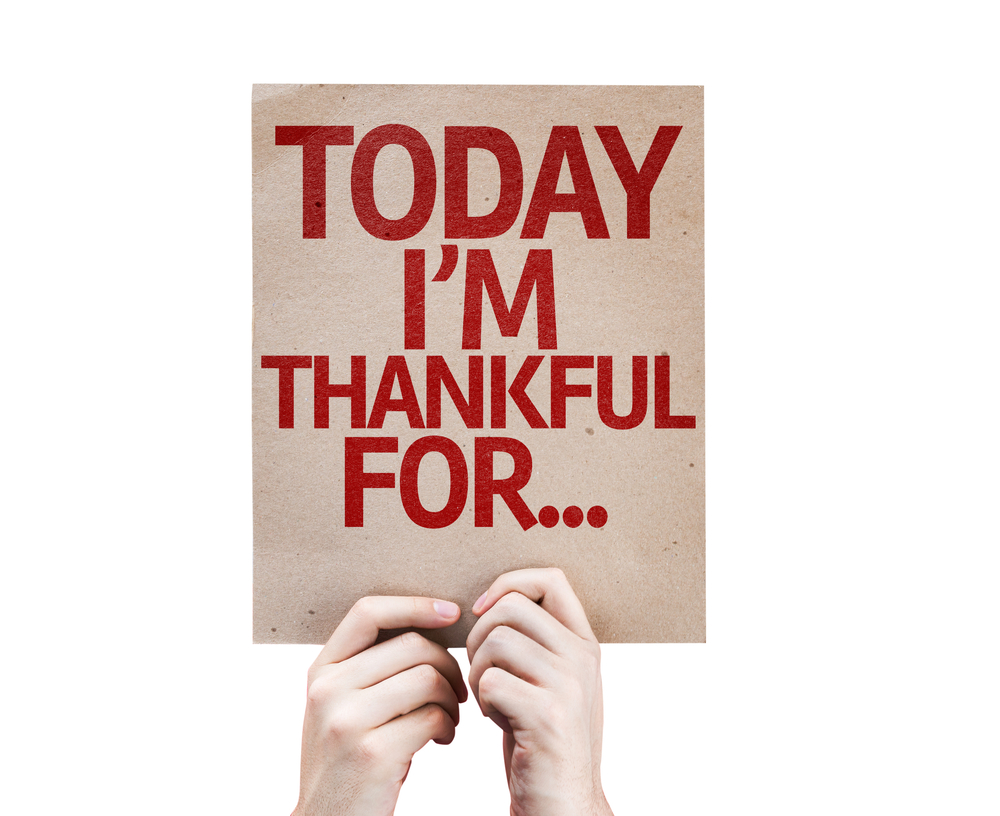 Sign: Today I'm Thankful For...